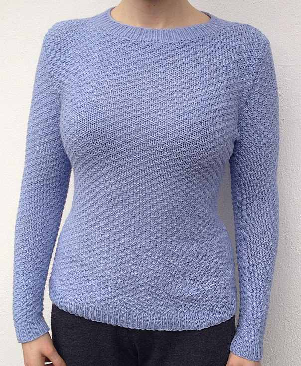 Pullover hellbla elastico print