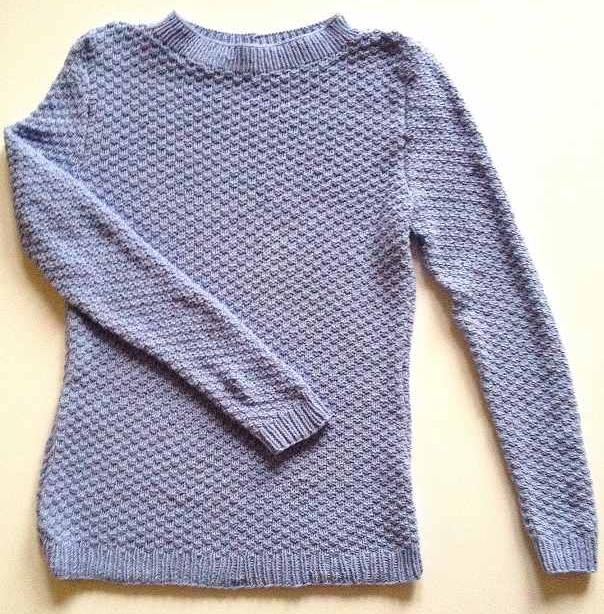 Pullover hellblau elastico print