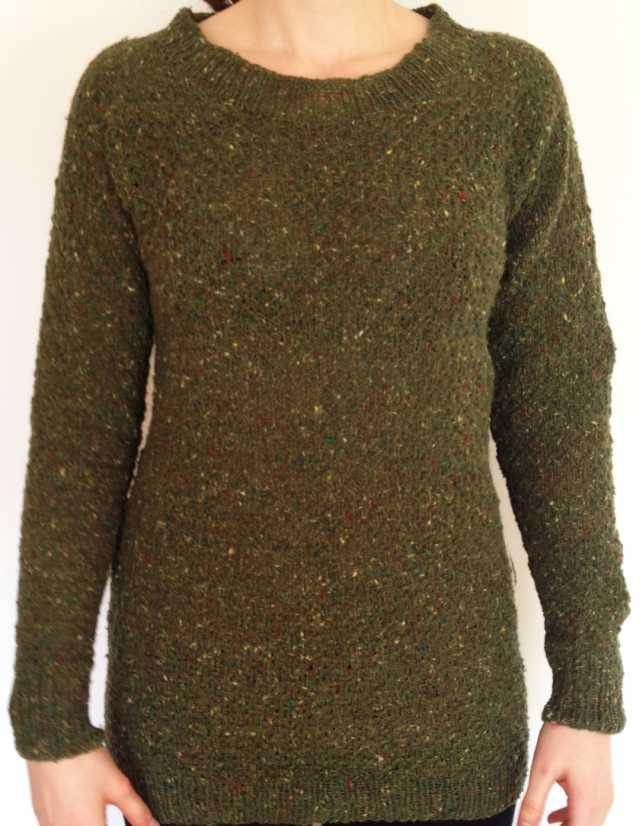 Tweed-Pullover Cloquémuster