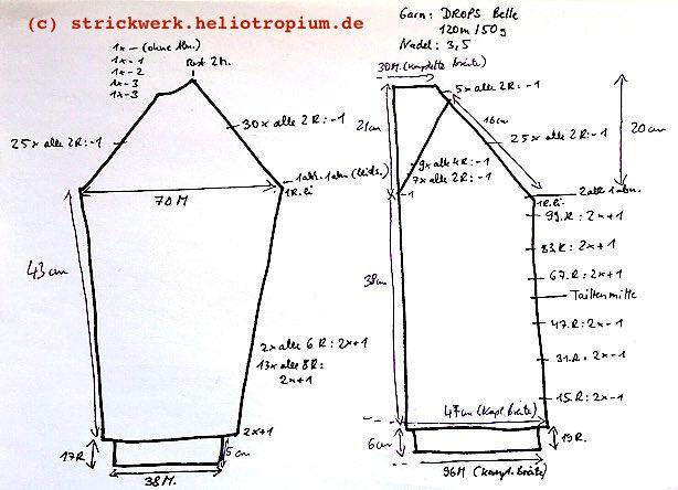 Schnitt-V-Pullover