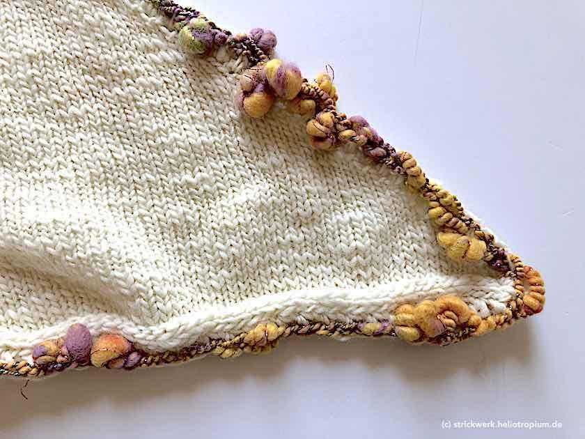 Umrandung Tuch mit Art Yarn