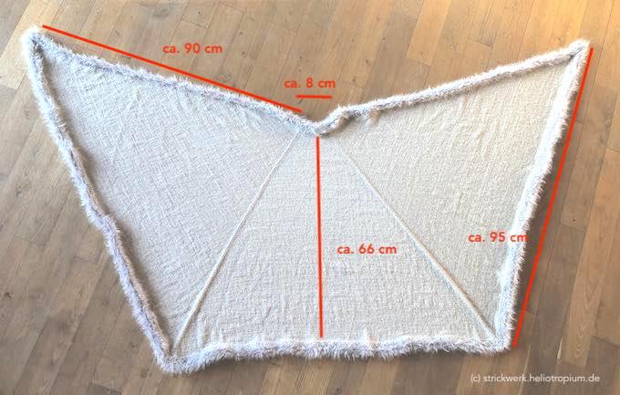 Die Maße der Stola in cm-Angaben