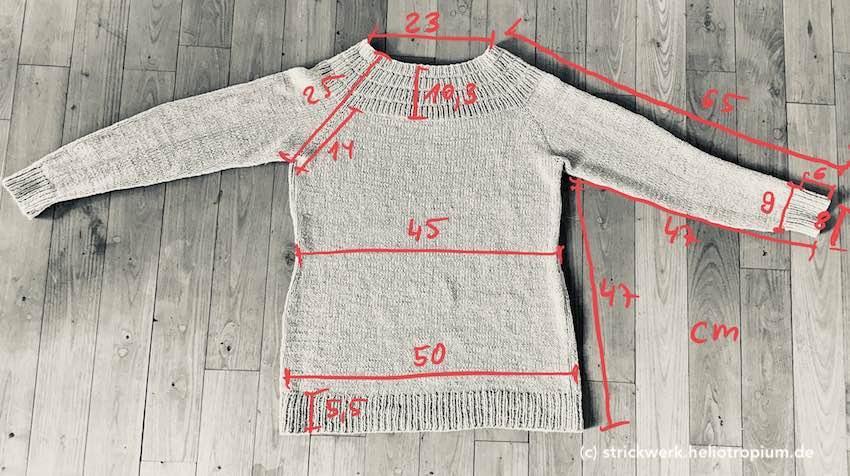 Anker's Pullover – meine Maße