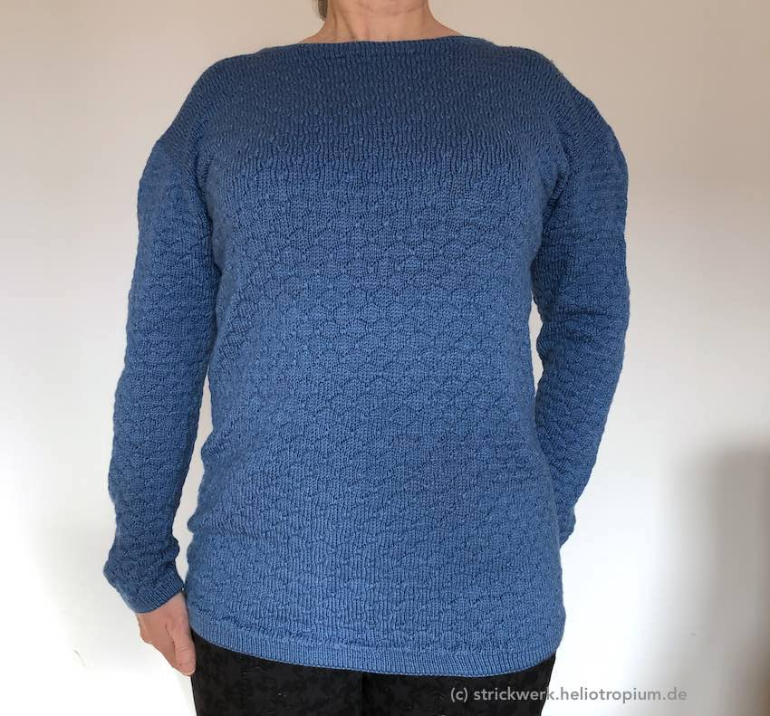 Pullover im Seemannsnoppen-Muster