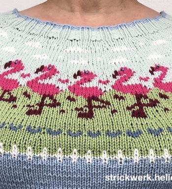 Pullover Flamingo-Parade