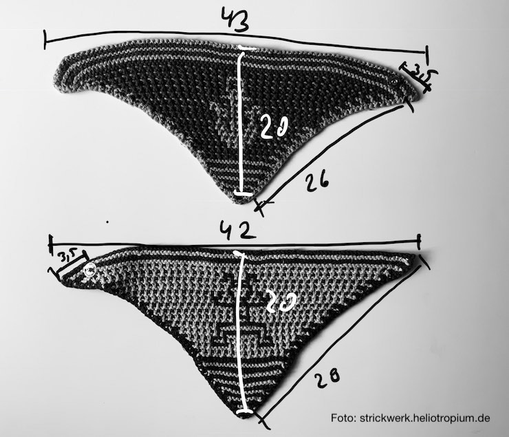 Halstuch Maße