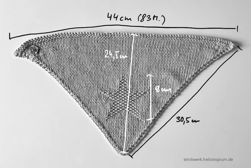 Dreieckstuch Stern Maße